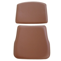 Leatherette-Wrapped Bentwood Seats And Backrests