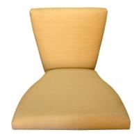 曲木+布沙發套坐墊與靠背