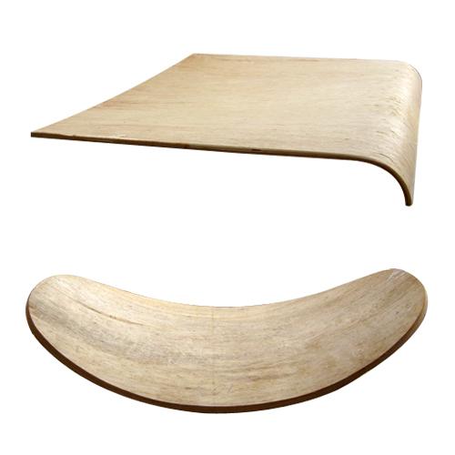 曲木板材及饰材