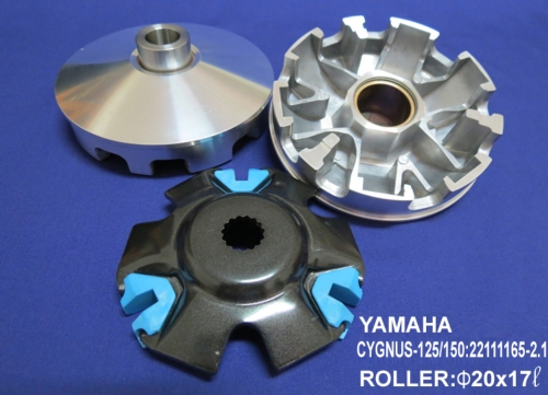 Enlarged dual groove pulley