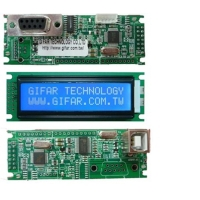 16x2 LCD with RS232/USB