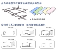 Ceiling Panels, C&Z Cold Rolling Machine for Steel Sheet and Space Frames