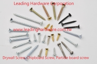 Drywall screw, chipboard screw, particle board screw