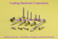 Stainless steel screw - self drilling, self tapping, machine and drywall