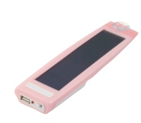Amorphous Silicon, Silm solar portable charger -Pink