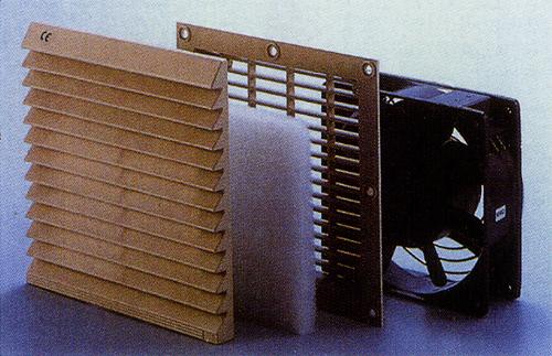 通風過濾網組+冷卻扇