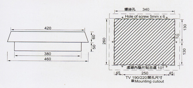 天井式散发装置