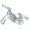 Two lever handles lavatory faucet