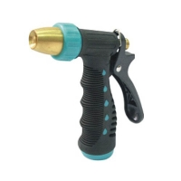 Adjustable brass insulated grip trigger nozzle