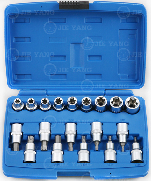 E-type socket & Bit socket-19pcs(B)