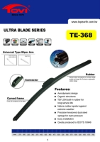 Frameless Wiper Blade, Ultra Blade-Universal Fit