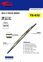 Heavy Duty Wiper Blade for bus and truck, European Standard