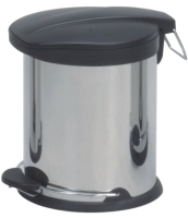 5L Step-Open Trash Can W/Plastic Lid