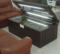 Wooden Aquarium Coffee Table