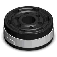 Powder-metallurgical Piston + Guide Ring