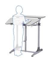 DF-502A-H Duke-series Standing & Sitting Computer Desk