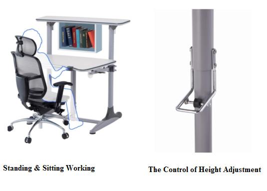 DF-502A-H Duke-series Standing & Sitting Computer Desk