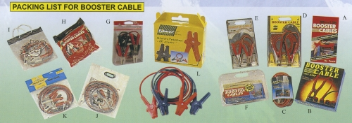 PACKING LIST FOR BOOSTER CABLE