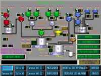 Automated Material Weighing-And-Mixing Control System (Graphic Monitoring C)