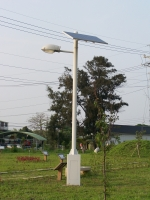 Solar-powered LED Streetlights