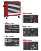 大型8抽工具車附五抽工具組