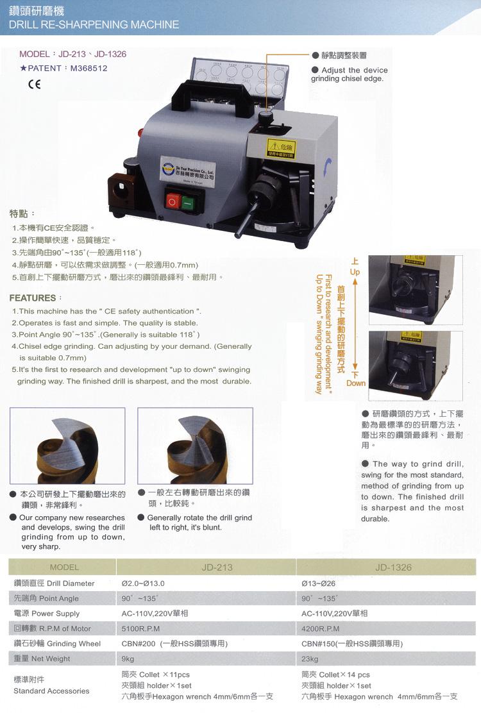 Drill Re-sharpening Machine