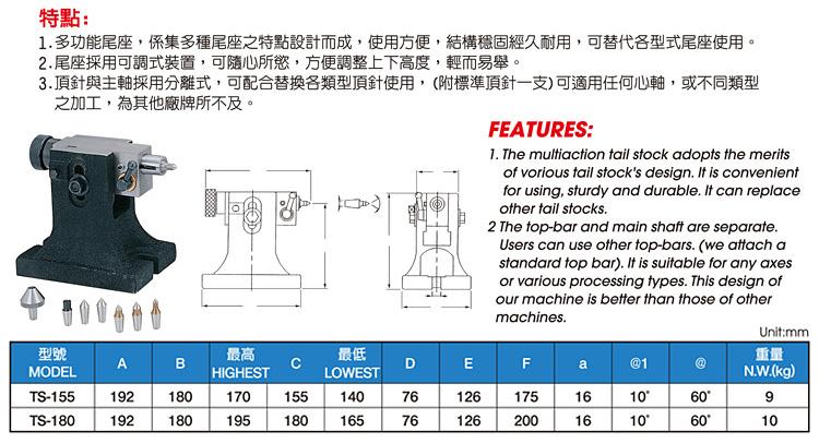Multipurpose Tailstock