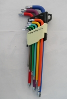 9pc Hex Key Wrench Set (Extra-Long, 9-Color Coating)