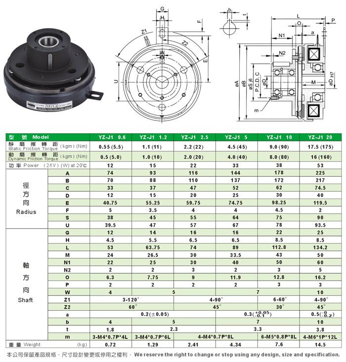 標準超薄型電磁離合器