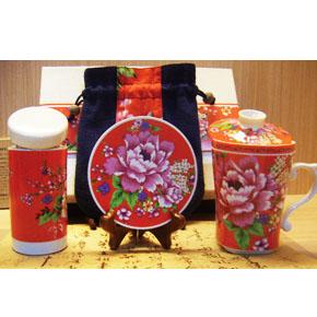 台湾红花盖杯礼盒