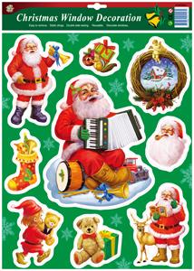 聖誕節窗飾:靜電貼紙