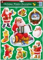 圣诞节窗饰:静电贴纸