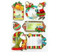 Elk christmas handmade sticker