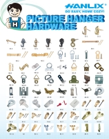 Picture hanging hardware