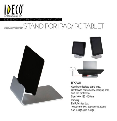 Desktop stand for Ipad or tablet