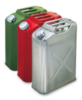 20 Litre Galvanized / Stainless Steel Portable Jerry Can