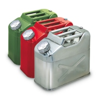 10 Litre Galvanized / Stainless Steel Portable Jerry Can
