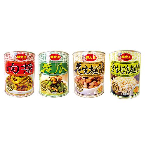 鲜大王-肉酱 / 鲜大王-花瓜 / 鲜大王-花生面筋 / 鲜大王-金针菇面筋