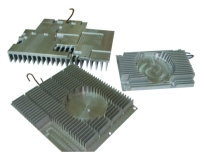 Extruded-aluminum heat-dissipating items