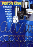Piston Rings, Cylinder Liners, Pistons, Piston Pins