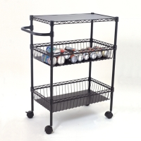 3-Tier Kitchen Cart with PP mat