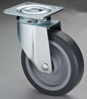 Cens.com 515 Dual-brake TPR Swivel Caster with Top Plate JOAN YUAN INDUSTRIAL CO., LTD.