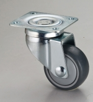 3x1 Dual-brake TPR Swivel Caster with Top Plate