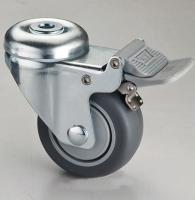314 Dual-brake Dual-pedal Hollow-king-pin TPR Caster (Gray)