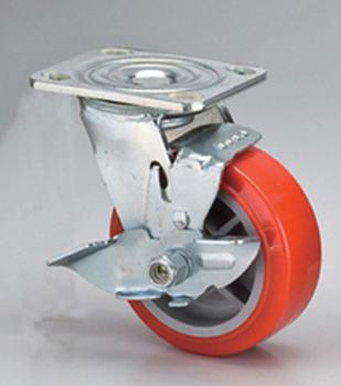 5*2重型平板PU轮刹车架