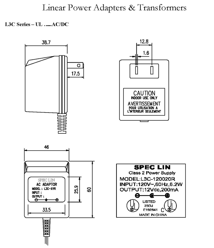 L3C Series ACDC Linear Adapters