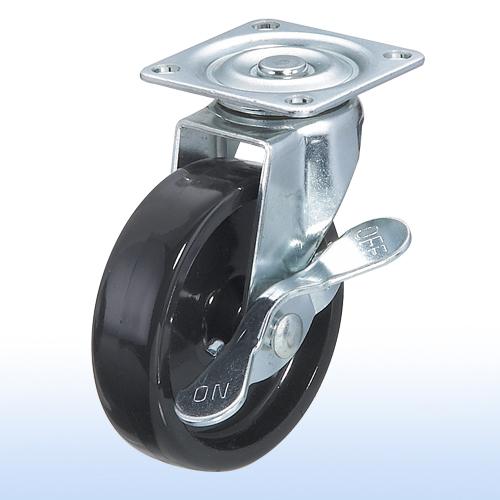 "3"" x 7/8 Flat-plate Swivel Caster w/Brake"