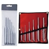 Flat-edged Punch, Straight Punch, Flat-edged Awl, Hand Tool Set (mirror-finished), Pin Punch