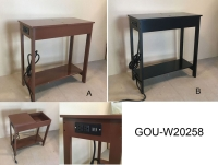 SIDE TABLE W/OUTLET
