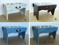 VINTAGE DRAWER PET FEEDERS